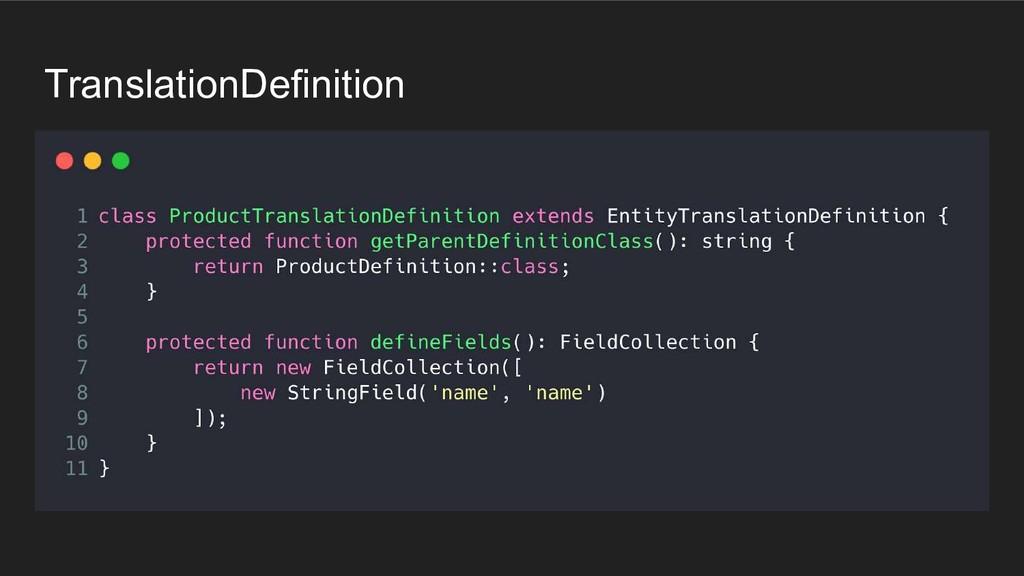 TranslationDefinition