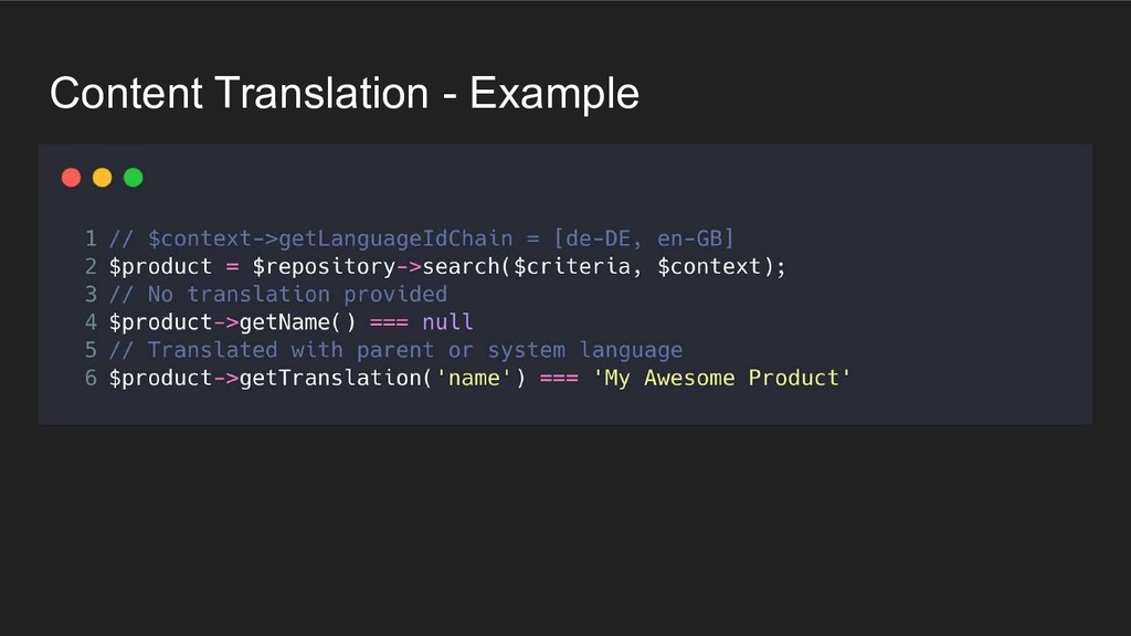 Content Translation - Example