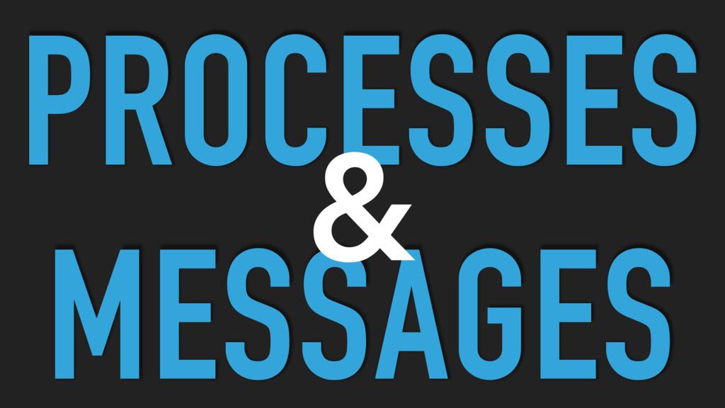 PROCESSES MESSAGES &