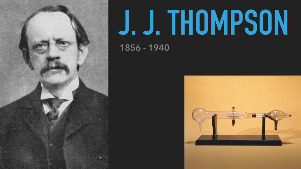1856 - 1940 J. J. THOMPSON