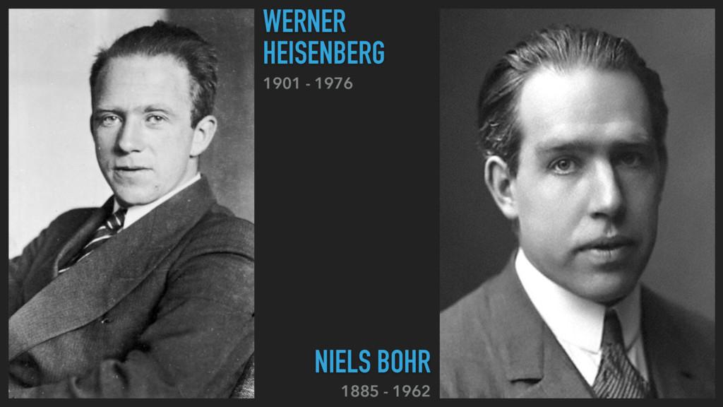 1901 - 1976 WERNER HEISENBERG 1885 - 1962 NIELS...