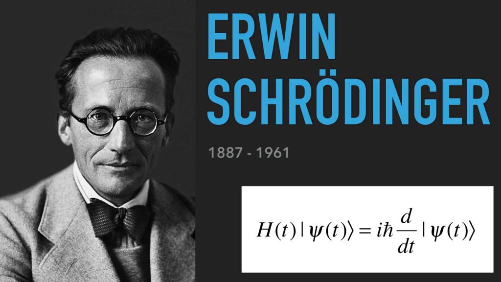 1887 - 1961 ERWIN SCHRÖDINGER