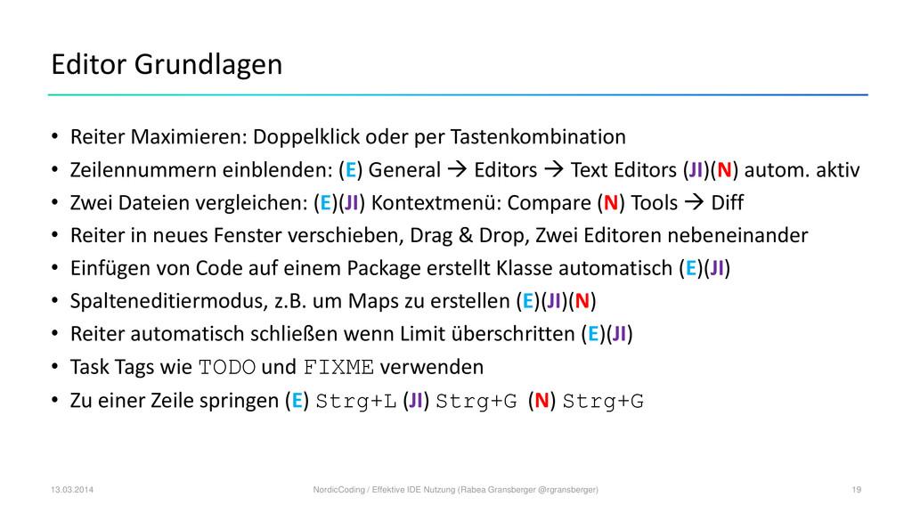 Editor Grundlagen • Reiter Maximieren: Doppelkl...