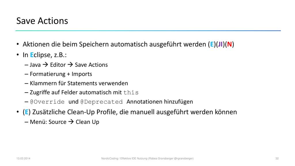 Save Actions • Aktionen die beim Speichern auto...