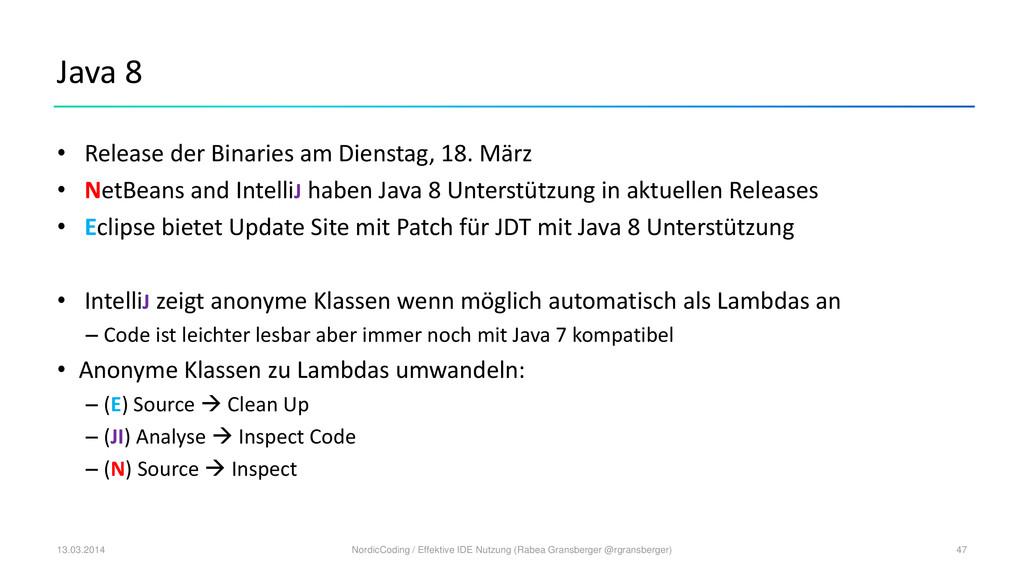 Java 8 • Release der Binaries am Dienstag, 18. ...