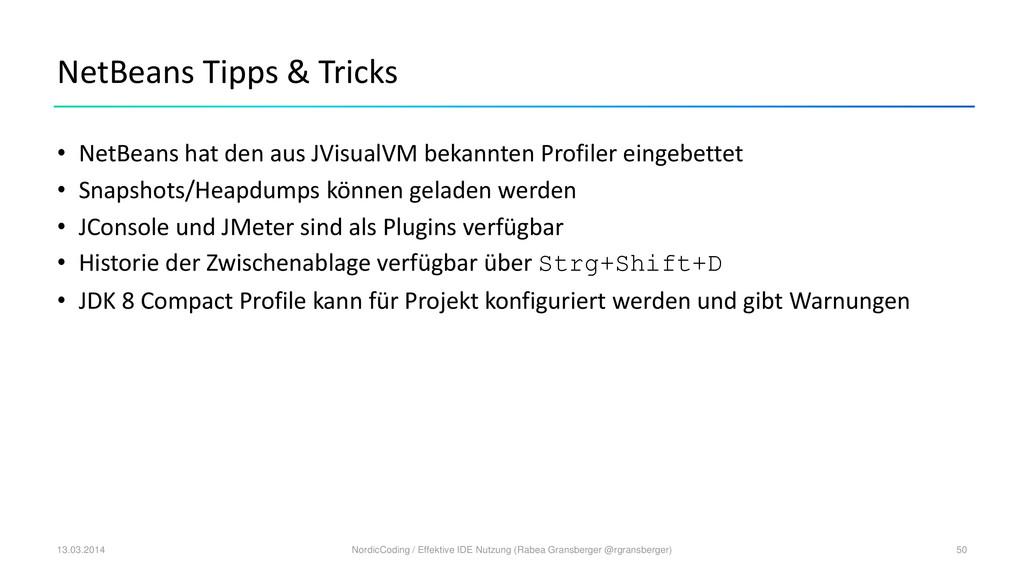NetBeans Tipps & Tricks • NetBeans hat den aus ...