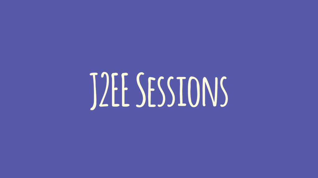 J2EE Sessions