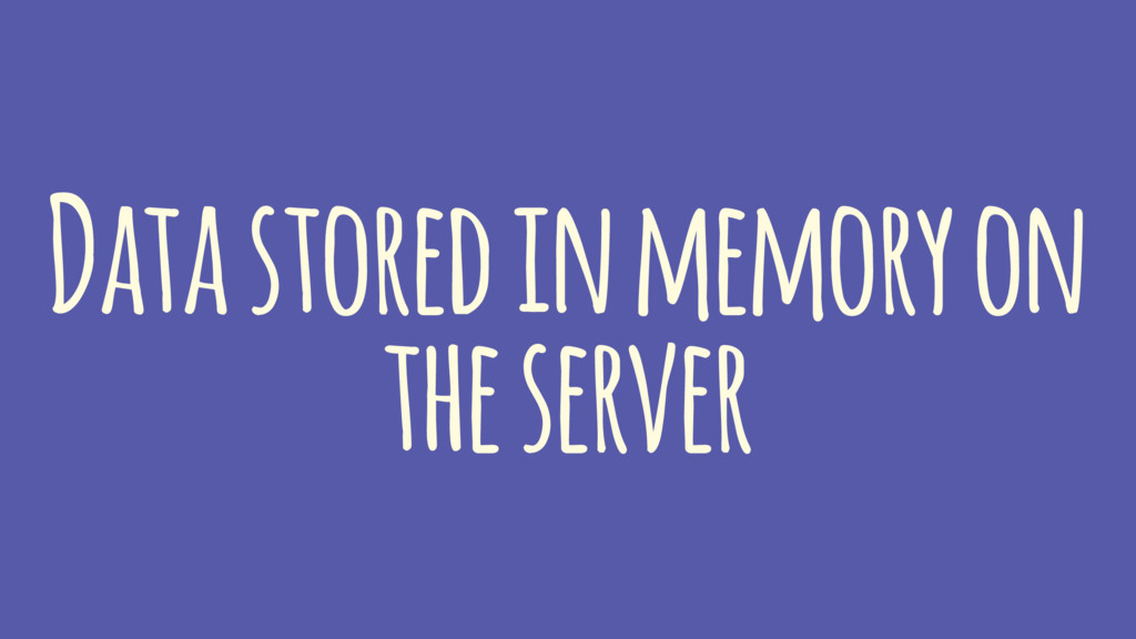 Data stored in memory on the server