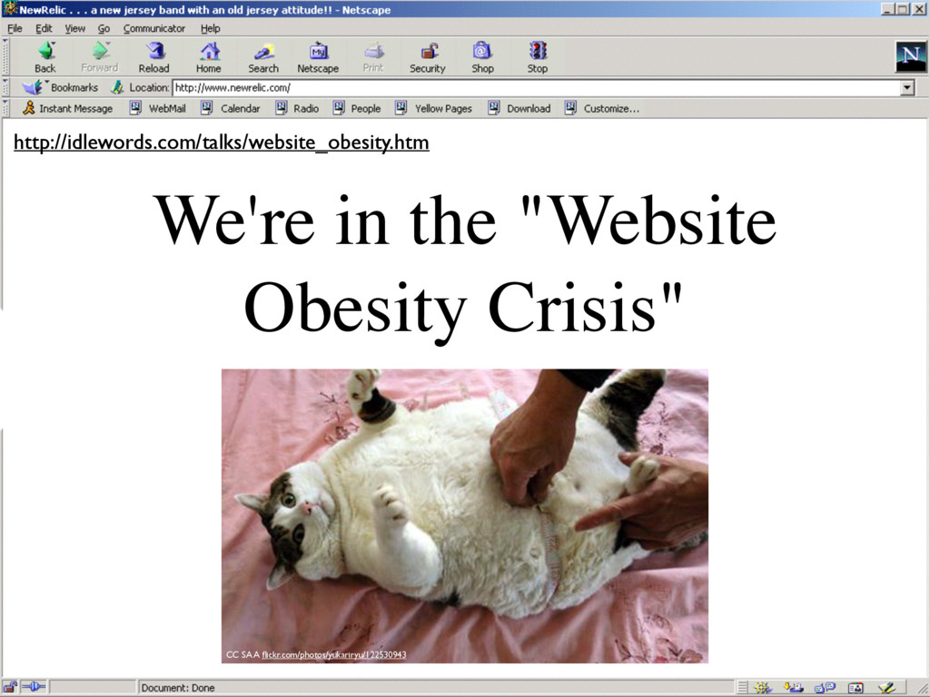"We're in the ""Website Obesity Crisis"" http://id..."