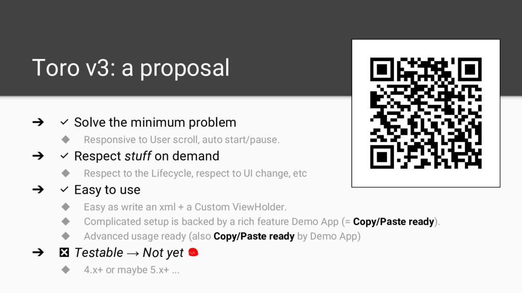 Toro v3: a proposal ➔ ✅ Solve the minimum probl...