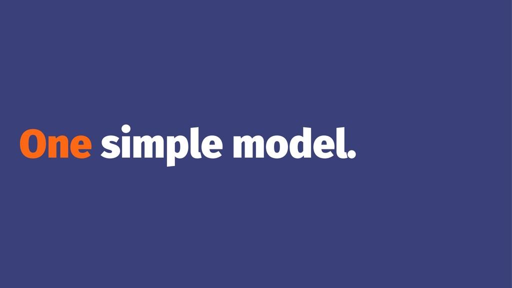 One simple model.