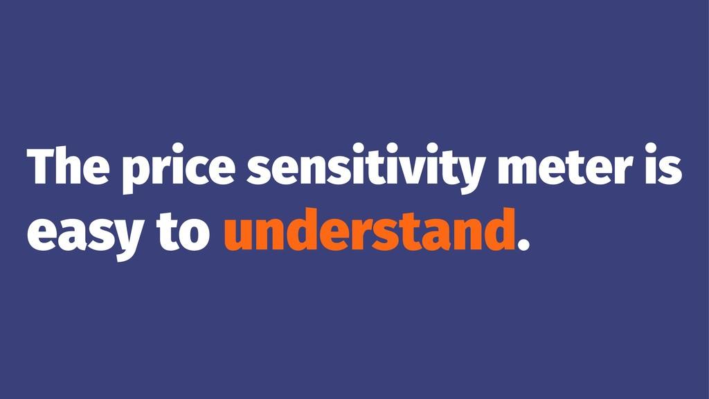 The price sensitivity meter is easy to understa...