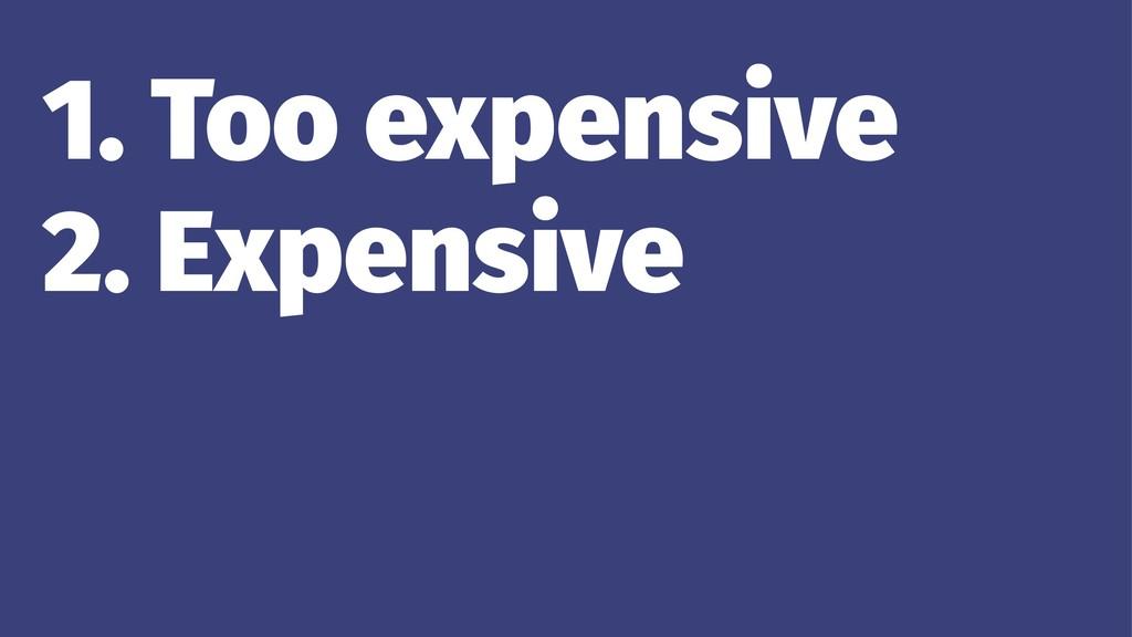 1. Too expensive 2. Expensive 3. Cheap 4. Too c...