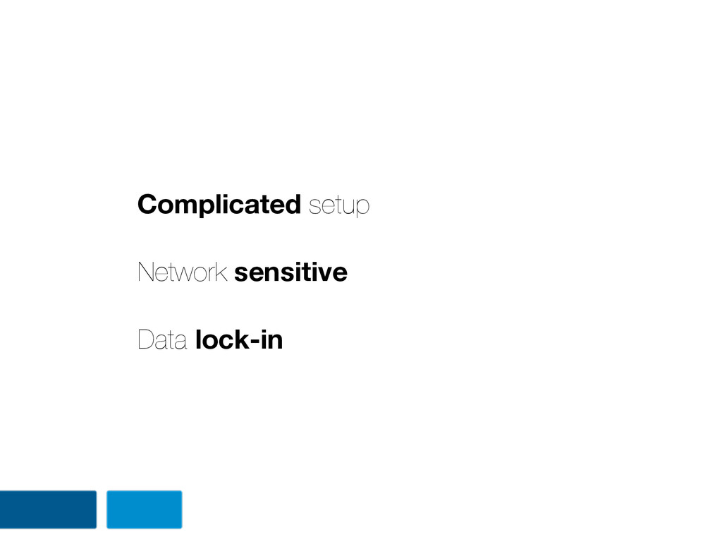 Complicated setup Network sensitive Data lock-in