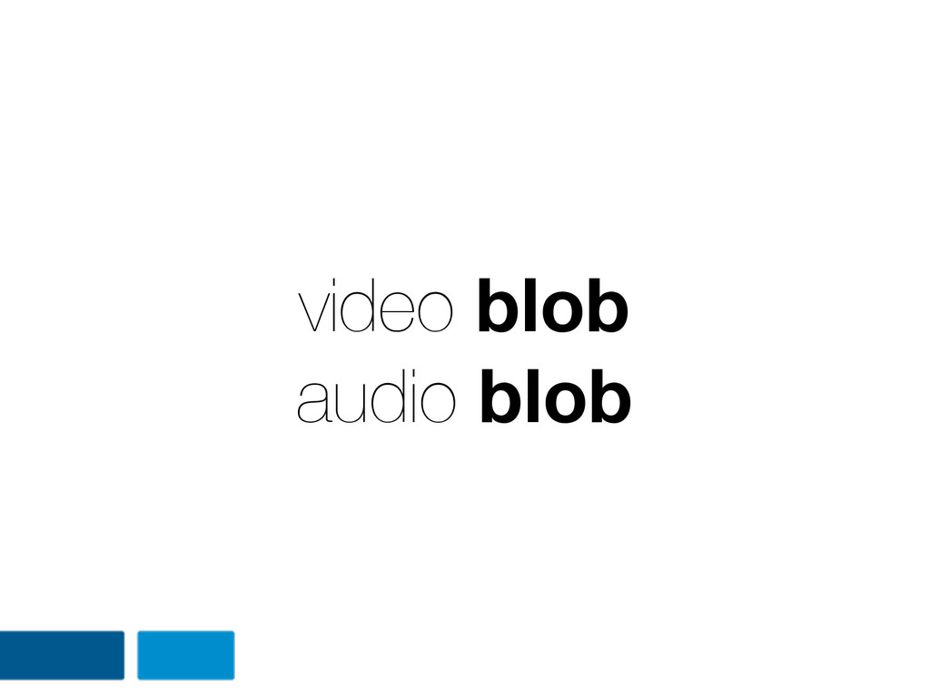 video blob audio blob