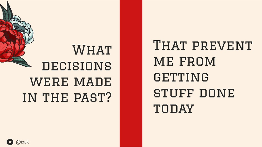 What decisions were made in the past? That prev...