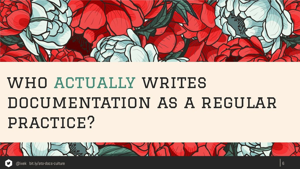 who actually writes documentation as a regular ...