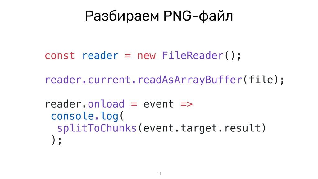 11 const reader = new FileReader(); reader.curr...