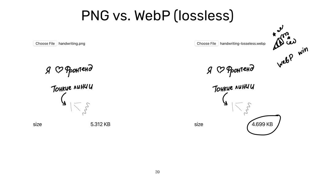 PNG vs. WebP (lossless) 39