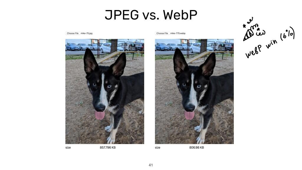 JPEG vs. WebP 41