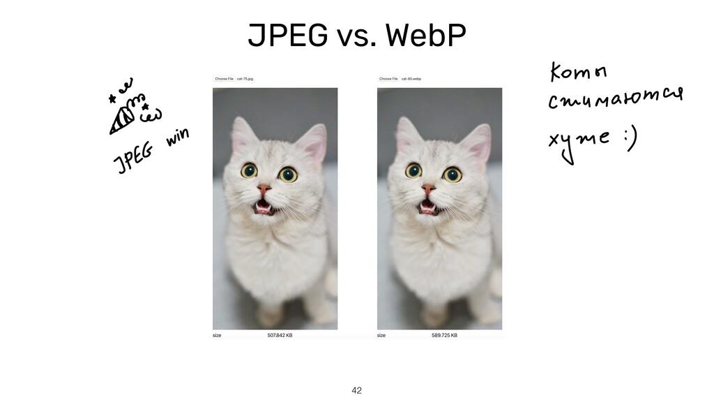 JPEG vs. WebP 42
