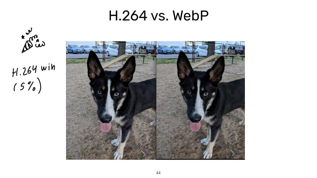 H.264 vs. WebP 44