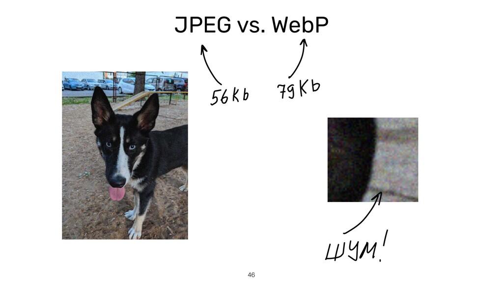 JPEG vs. WebP 46