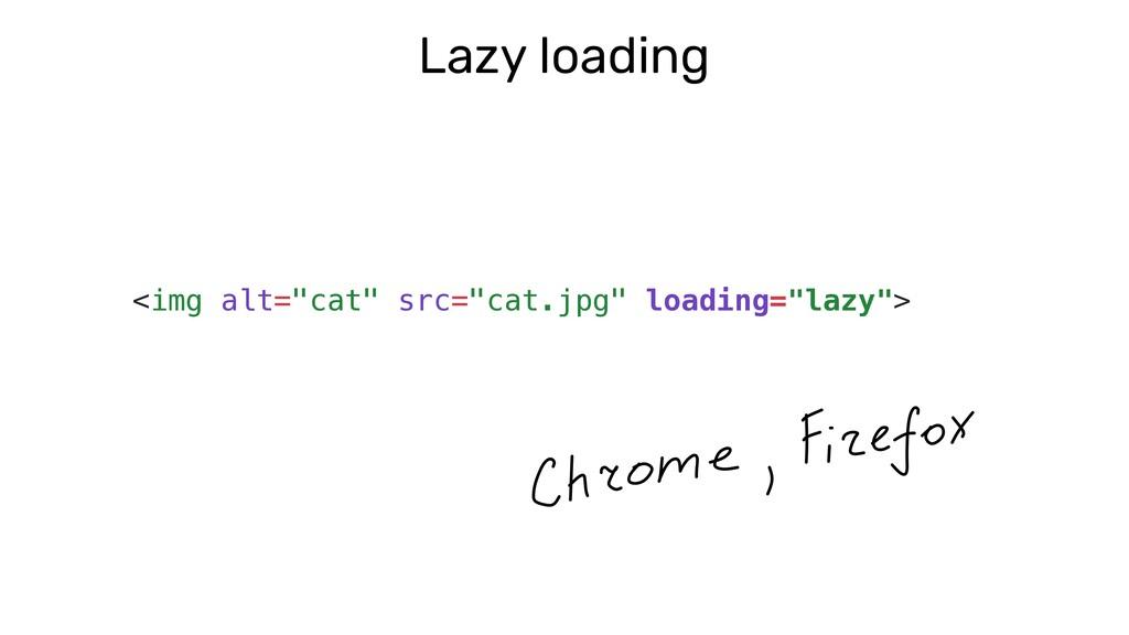 "Lazy loading <img alt=""cat"" src=""cat.jpg"" loadi..."