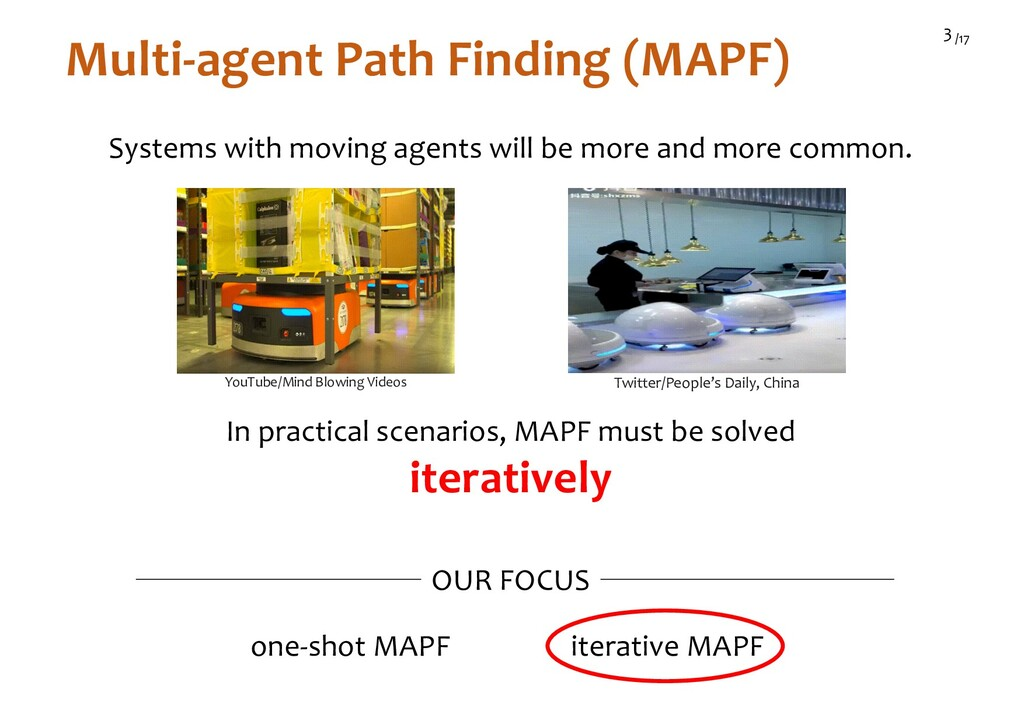 /17 3 Multi-agent Path Finding (MAPF) In practi...