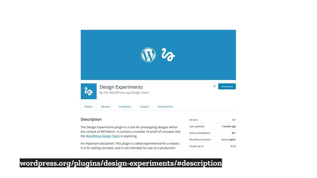 wordpress.org/plugins/design-experiments/#descr...