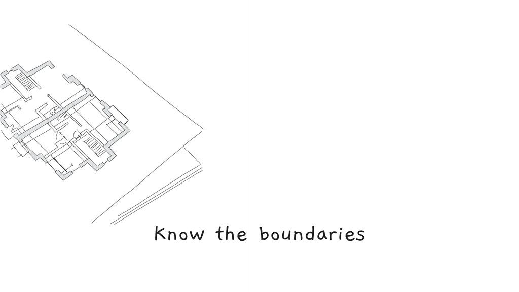 Know the boundaries