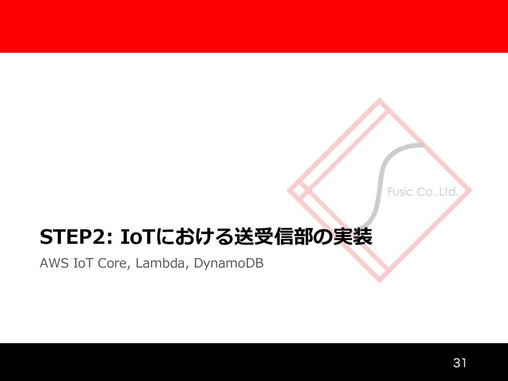 STEP2: IoTにおける送受信部の実装 AWS IoT Core, Lambda, Dyn...