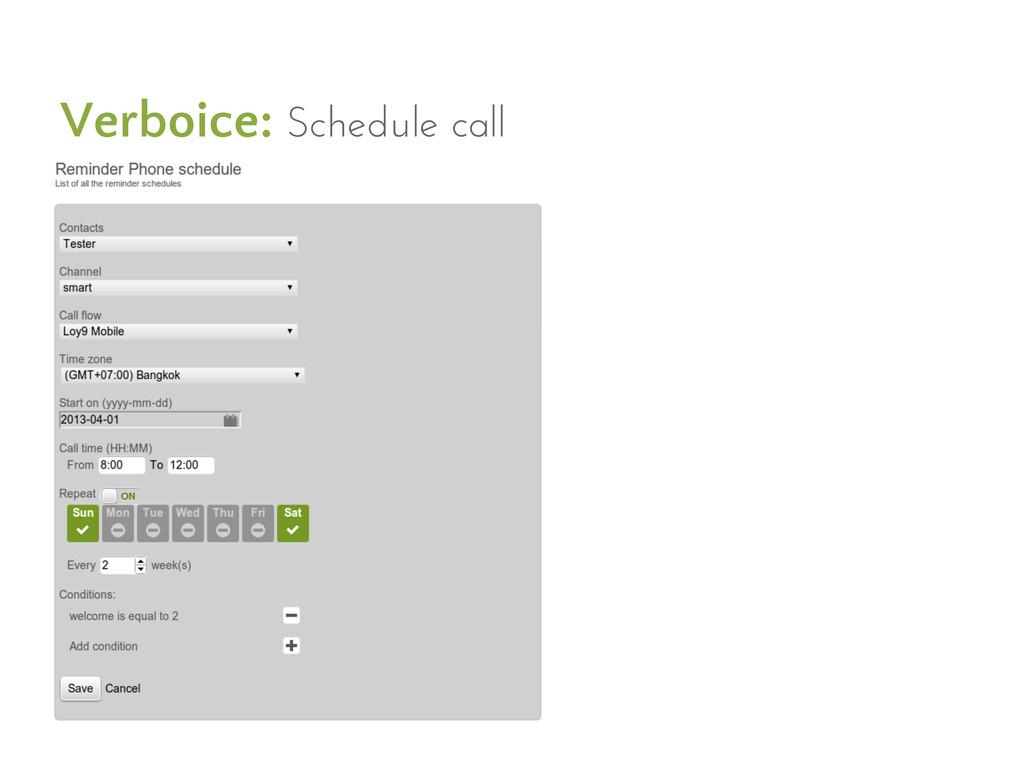 Verboice: Schedule call