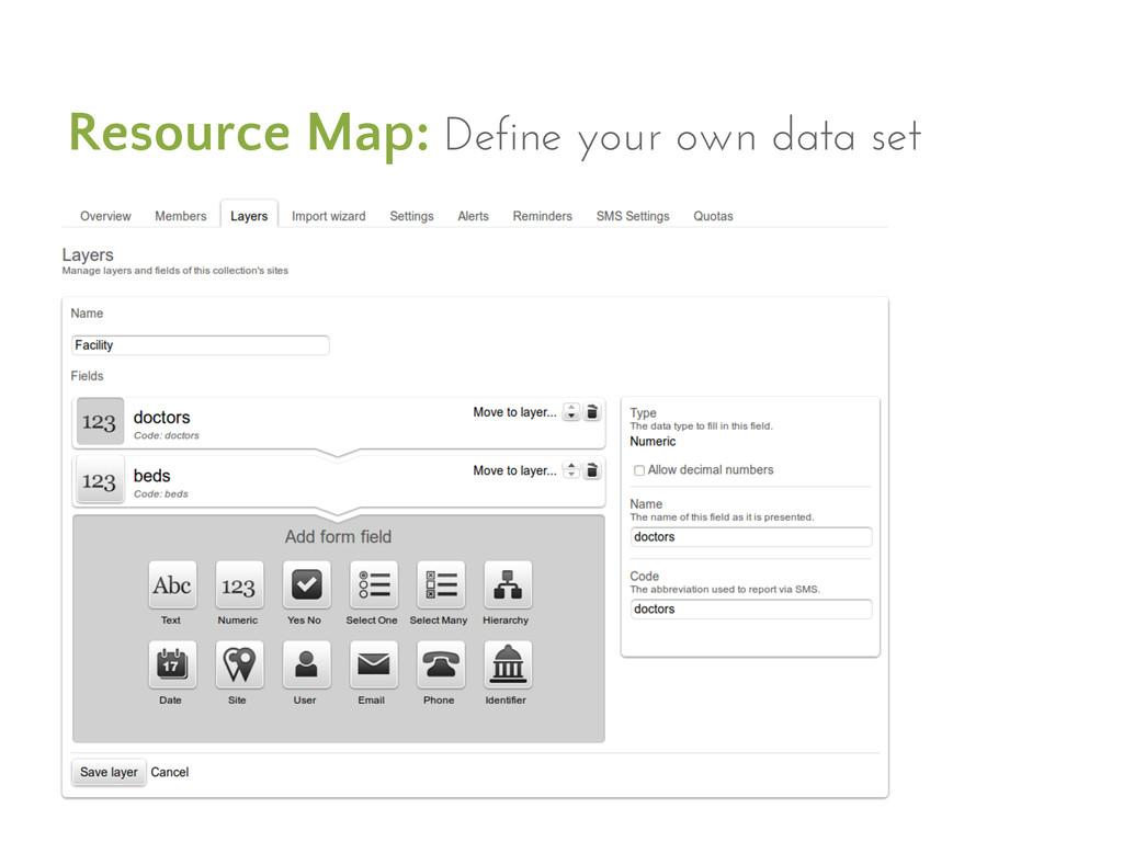Resource Map: Define your own data set