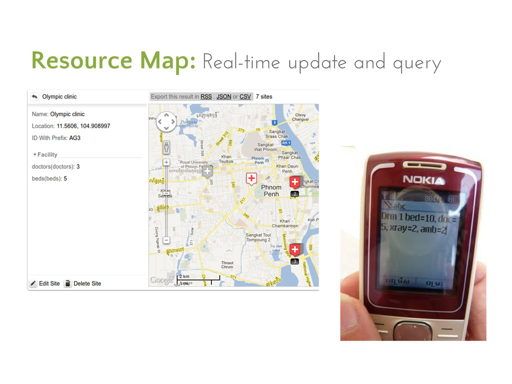 Resource Map: Real-time update and query