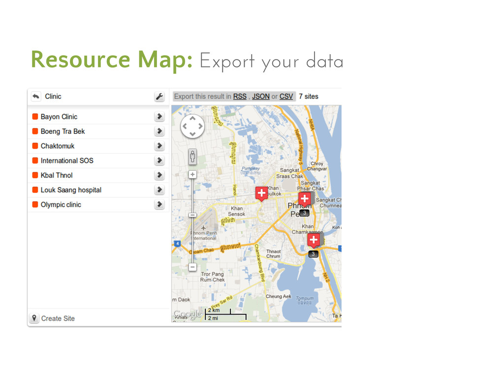 Resource Map: Export your data