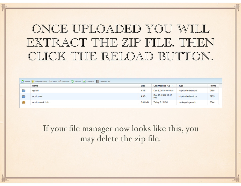 ONCE UPLOADED YOU WILL EXTRACT THE ZIP FILE. TH...