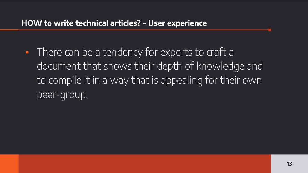 HOW to write technical articles? - User experie...