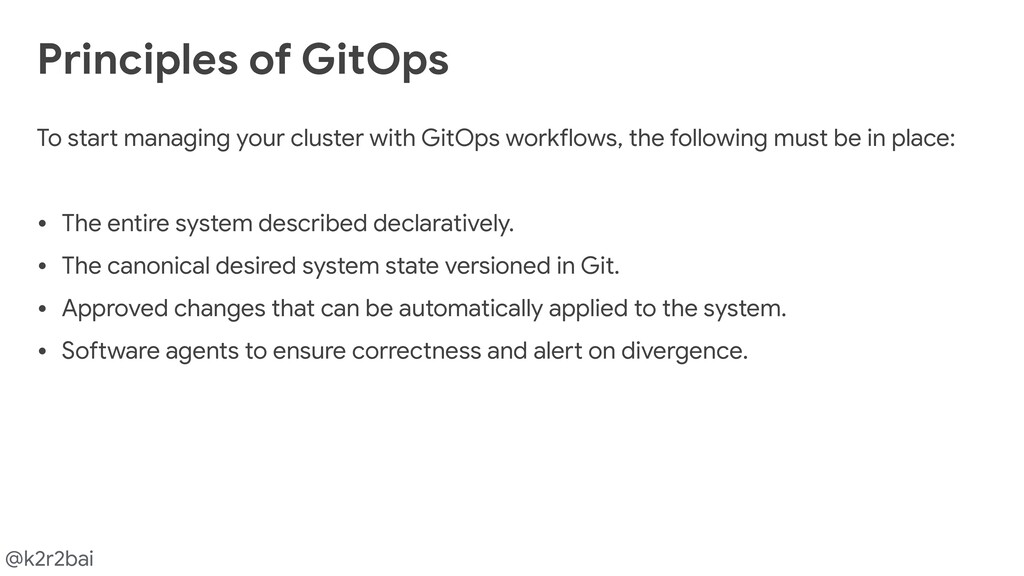 @k2r2bai To start managing your cluster with Gi...
