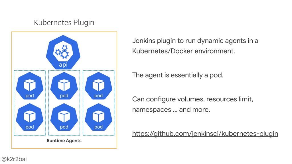@k2r2bai Jenkins plugin to run dynamic agents i...