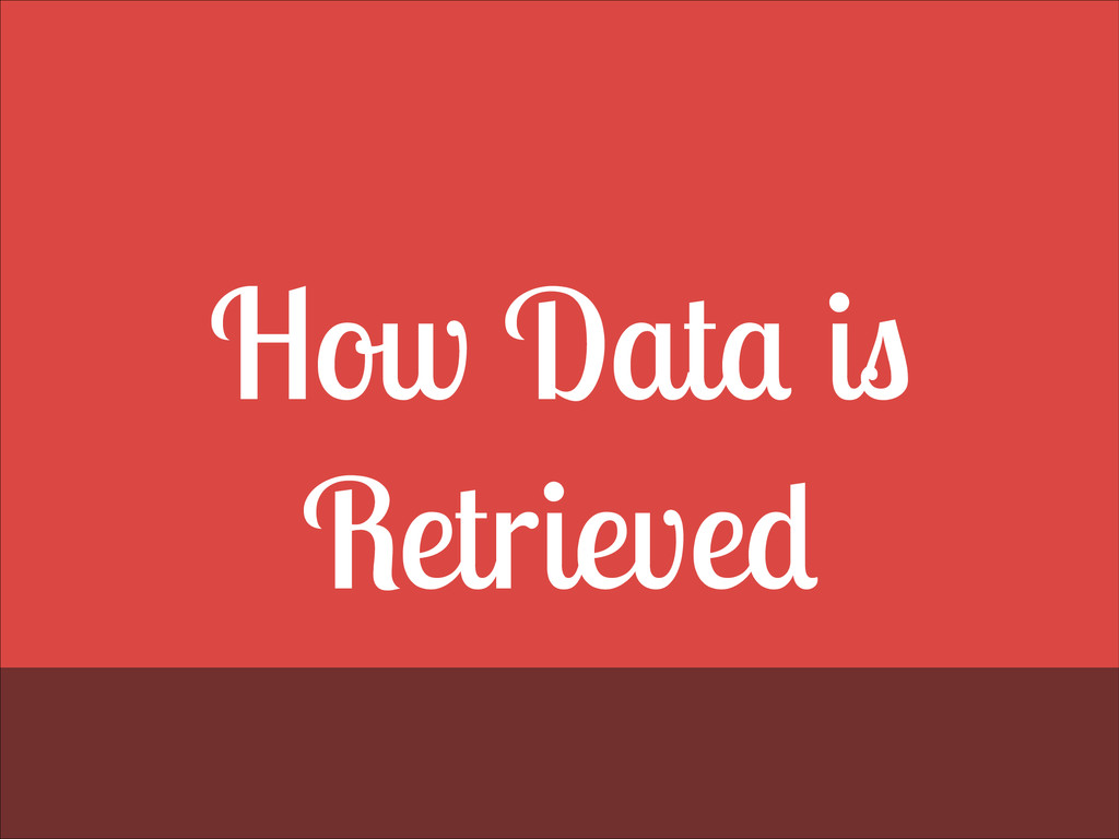 How Data is Retrieved