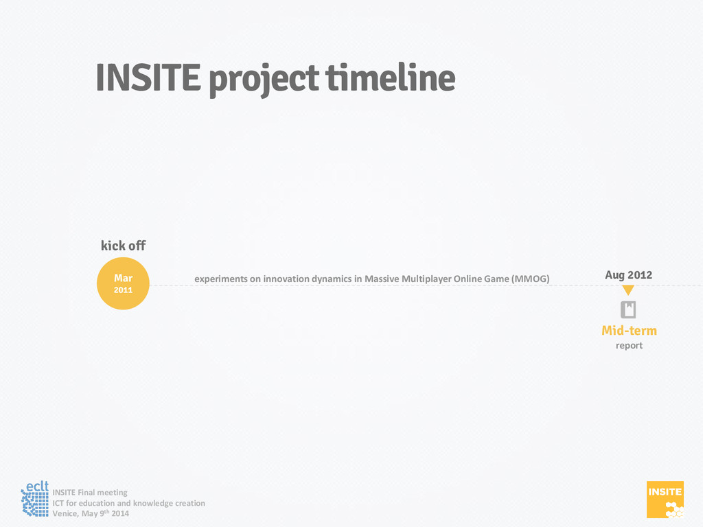 INSITE Final meeting ICT for education and know...