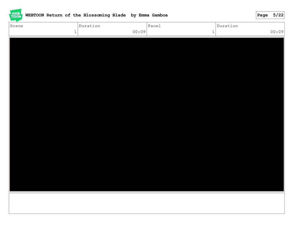 Scene 1 Duration 00:09 Panel 1 Duration 00:09 W...