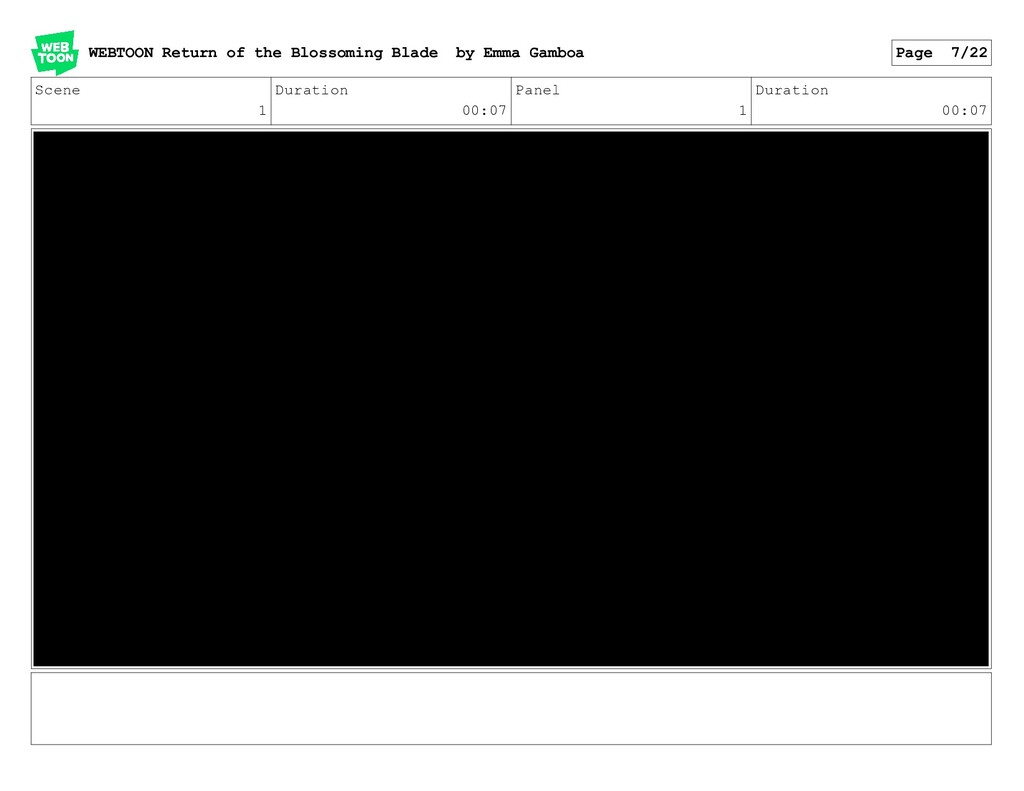 Scene 1 Duration 00:07 Panel 1 Duration 00:07 W...