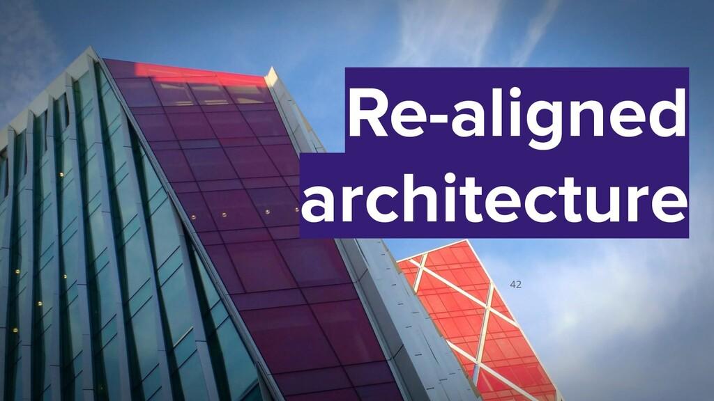 42 Re-aligned architecture