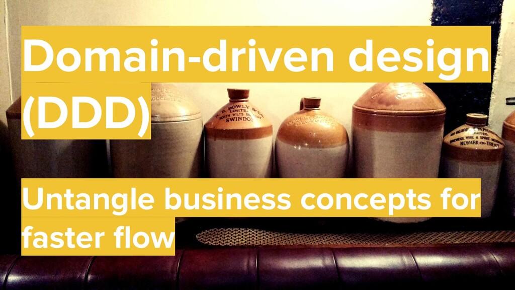 44 Domain-driven design (DDD) Untangle business...