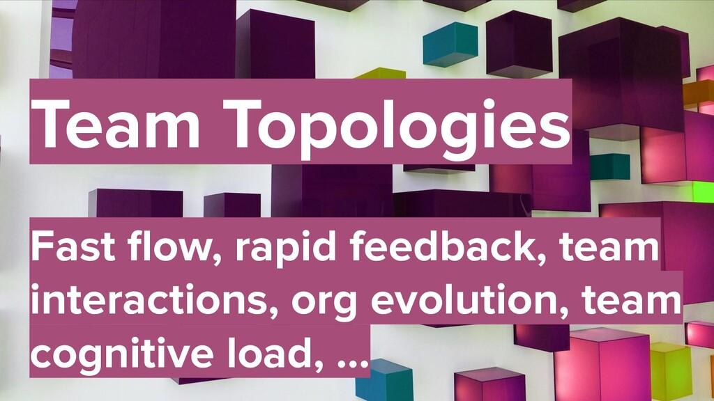 48 Team Topologies Fast flow, rapid feedback, te...