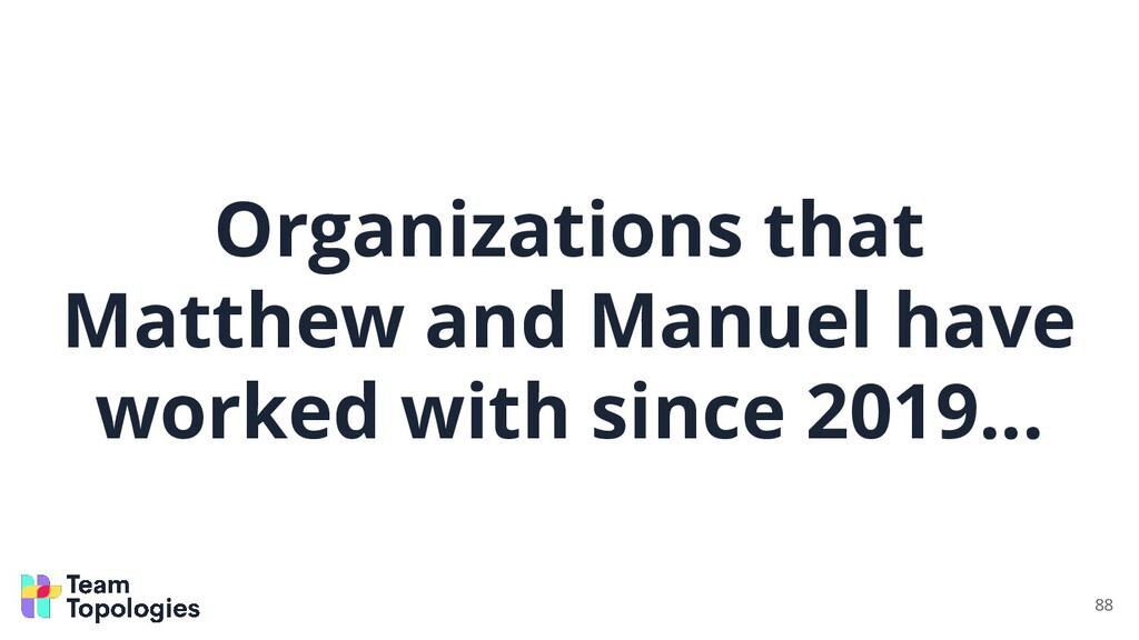 Organizations that Matthew and Manuel have work...