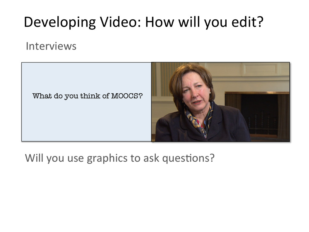 Will you use graphics to ask ...