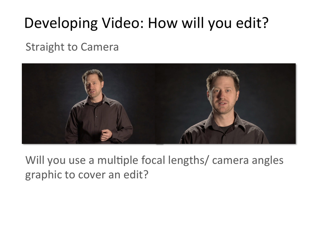Straight to Camera    Developing ...